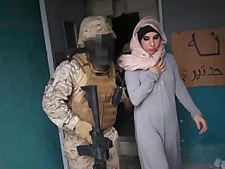 TOUR OF BOOTY Arab Hooker Satisfies American Soldiers In A War Zone!