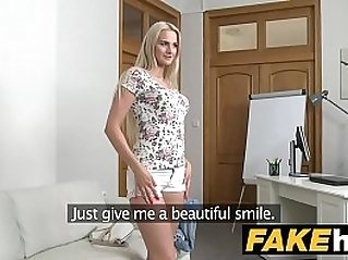 Fake Agent Blonde Beauty in Casting fuck