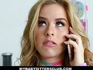 MyBabySittersClub Adorable Babysitter Lily Ford Fucks Hot Boss