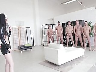 Incredible Video!! Super Model Crystal Greenvelle Double Anal GangBang
