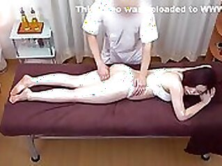 Cock lover Japanese fucked on massage table