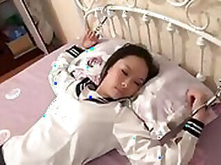 chinese girl has a good time after school