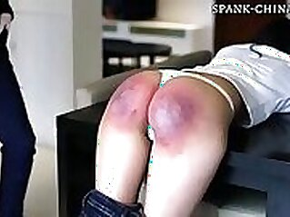 Bitch with sexy body in secret smokey room gets her pussies spanked