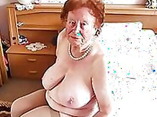 Cfnm granny with several men lick pussies