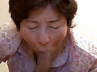 Asian granny plays with herself