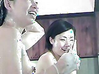 Cute asian shower shorts on my webcam